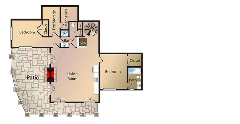 House Floor Plans Observation Tower Room