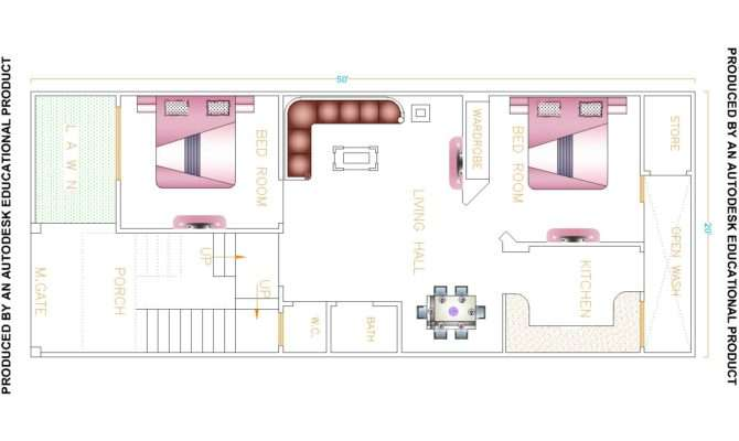 House Map Drawing India