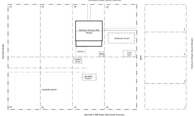 House Map Drawing Lots Vicinity
