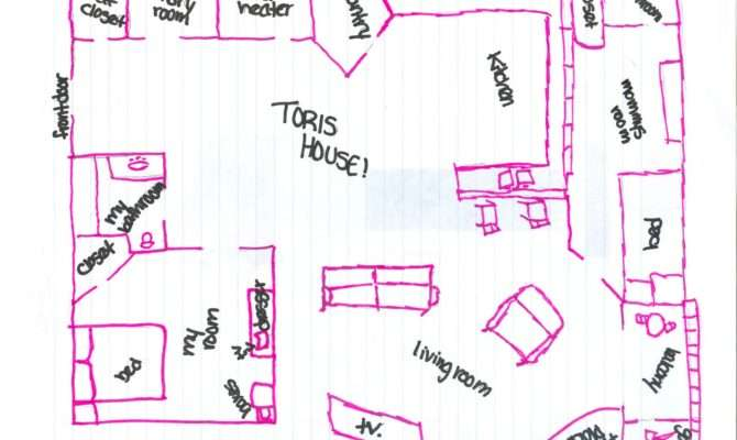 House Map Drawing Marla