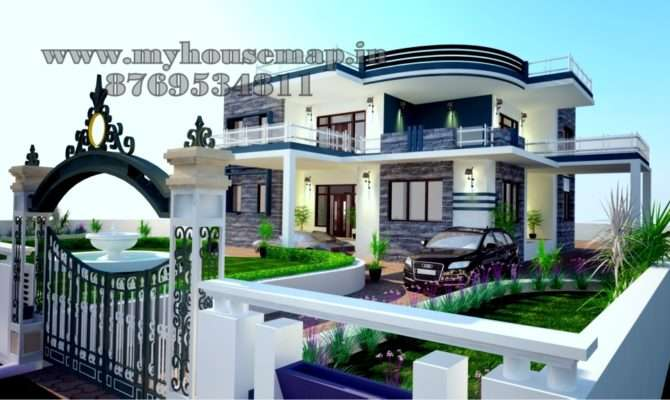 House Map Elevation Exterior Design India