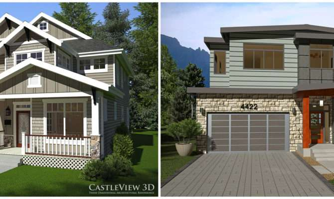 House One Craftsman Modern Modeled Same Home Plan