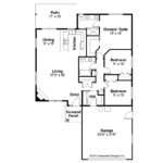 House Plan Alden Left Elevation Ranch