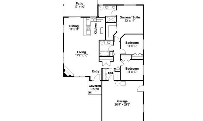 House Plan Alden Left Elevation Ranch