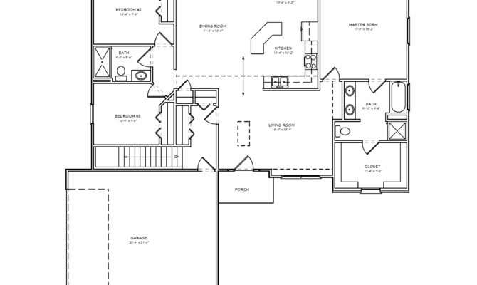 House Plan Bedroom Ranch Basement