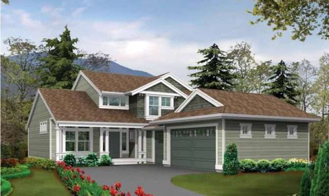 House Plan Country Craftsman Perfect Narrow Corner Lot