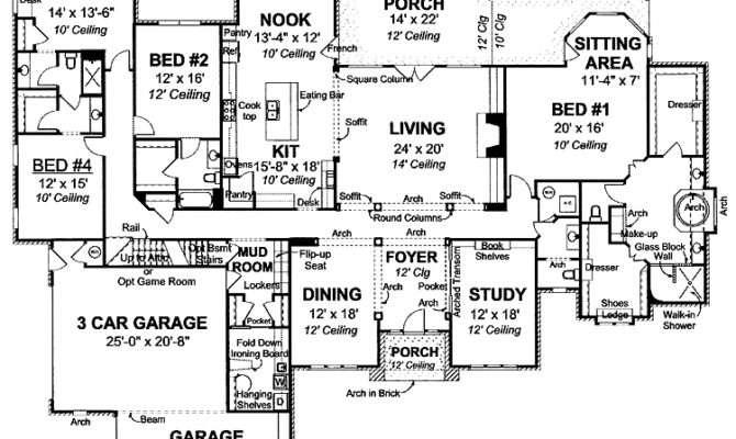 House Plan Floor Plans Pinterest