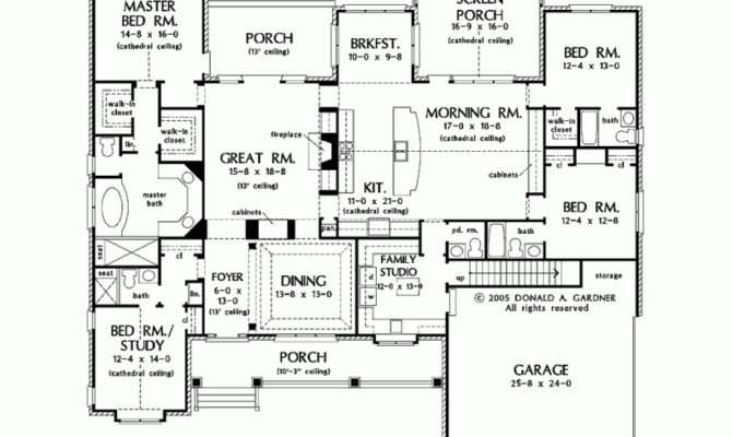 House Plan Luxurious One Story Living Square Feet