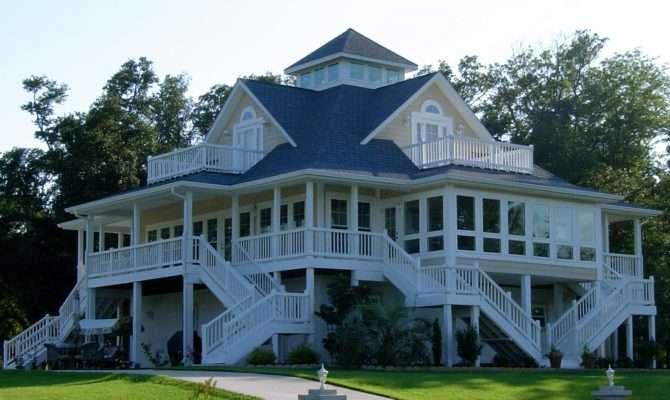 House Plan Playful Coastal Cottage Getaway Wrap Around Porch