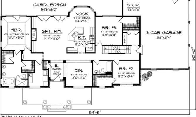 House Plan Ranch Plans Floor
