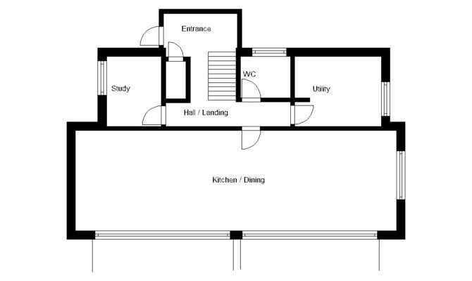 House Plan Striking Contemporary Self Build Garden
