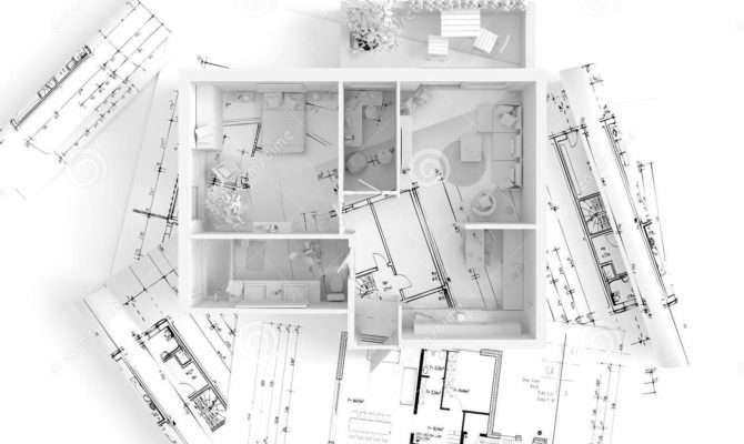 House Plan Top Interior Design Illustration