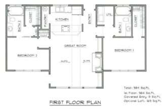 House Plan Vacation Home Cabin Design Blueprint Plans Working