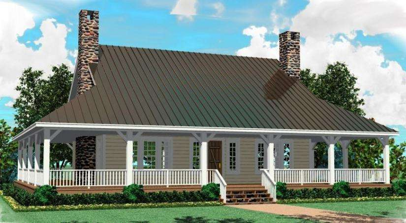 House Plan Wrap Around Porch Plans Floor Home