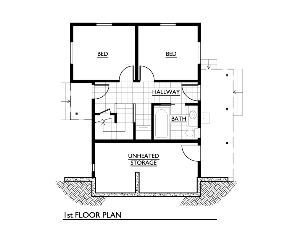 House Plans Bedroom Modern Plan