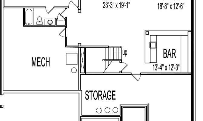 House Plans Bedrooms Basement Design