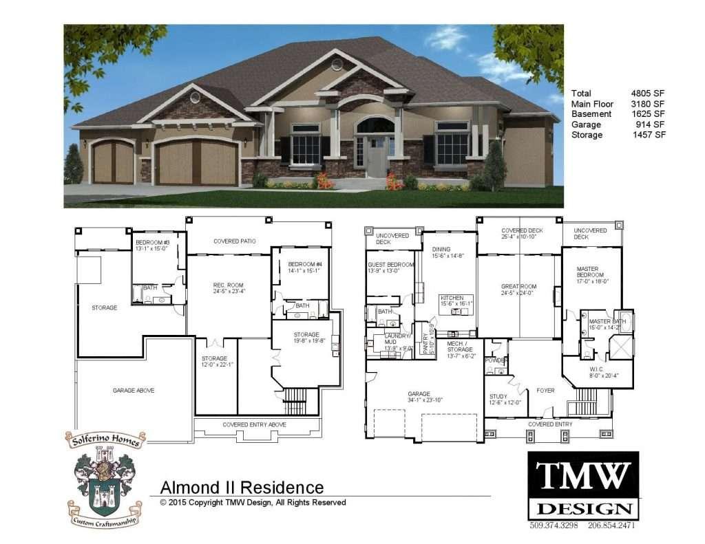 House Plans Daylight Basements Elegant Rambler