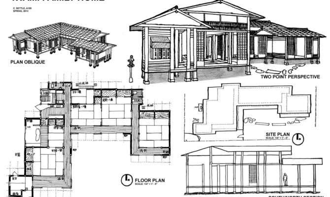 House Plans Design Modern Japanese Floor