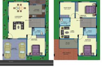 House Plans East Facing Two Roads