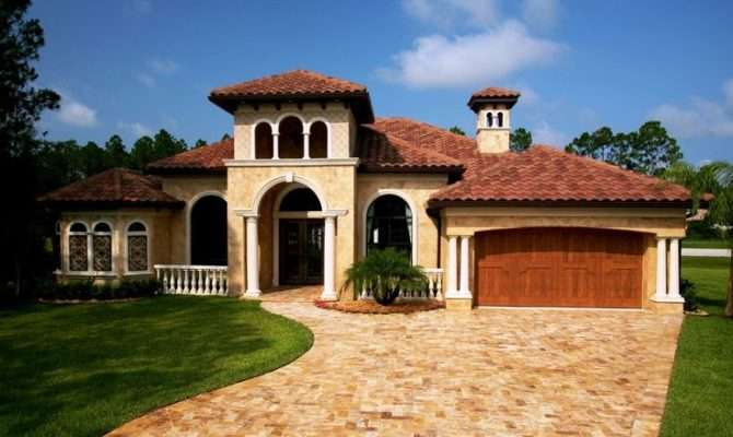 House Plans Exterior Home Pinterest Tuscan Homes