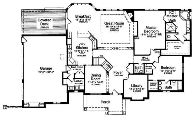 House Plans Floors Luxury Living Room Design Two Master