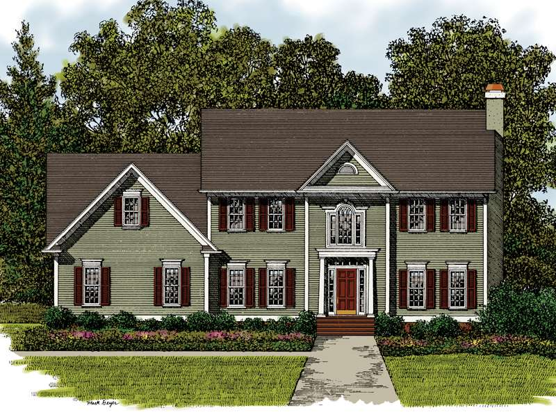 House Plans Georgian Colonial More