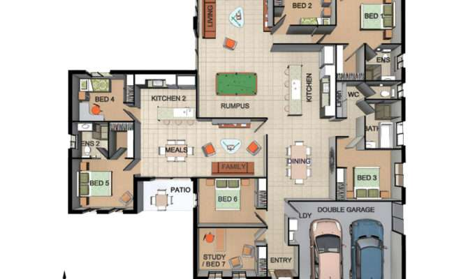 House Plans Granny Flat Attached Home Design Style