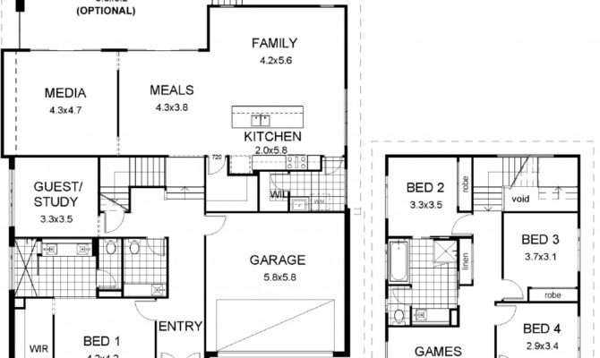 House Plans Multi Level Floor Plan Friday Split Modern
