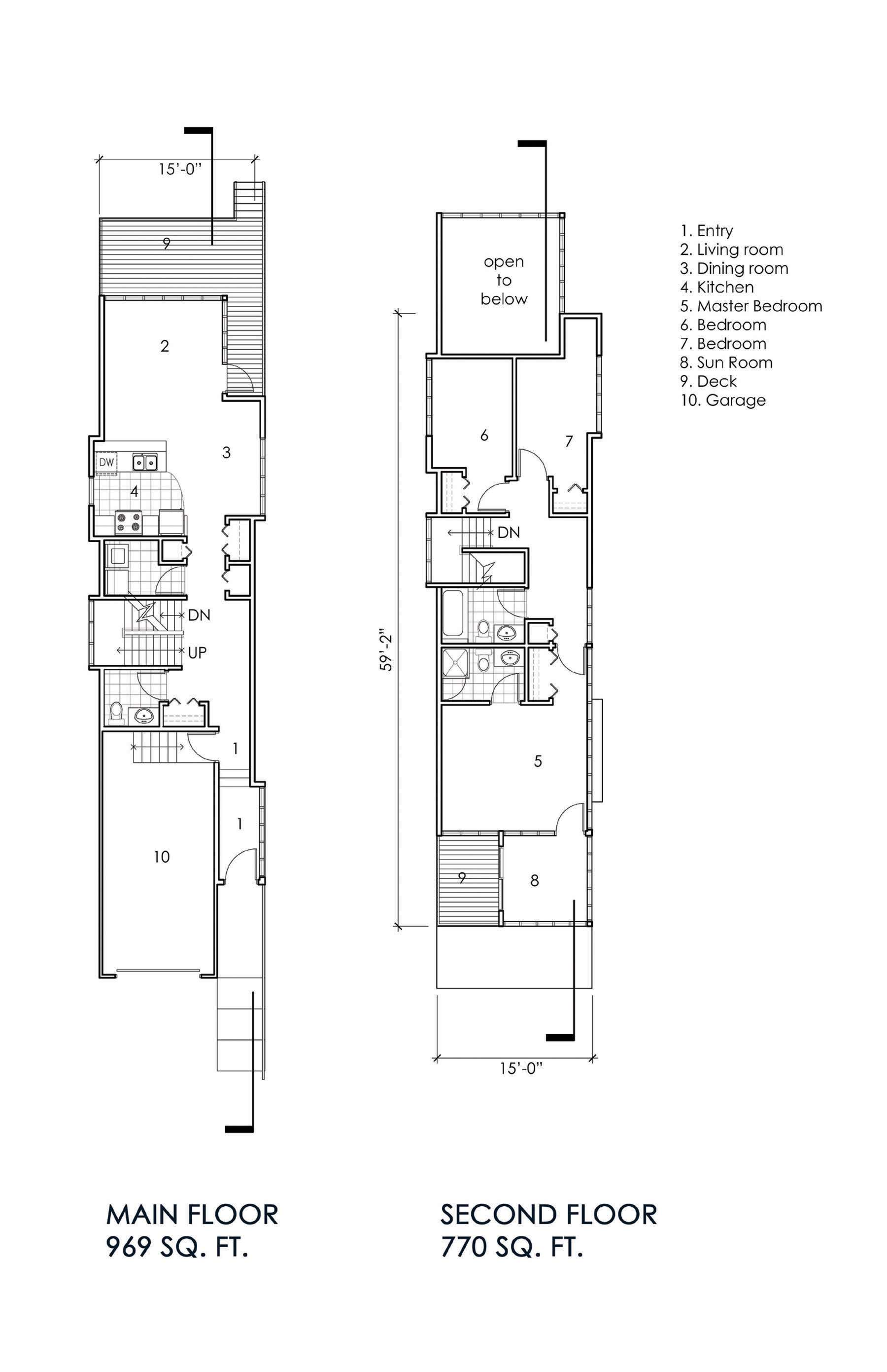 House Plans Narrow City Lots Lot