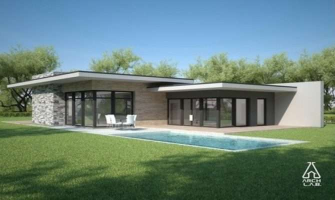 House Plans One Story Contemporary Single