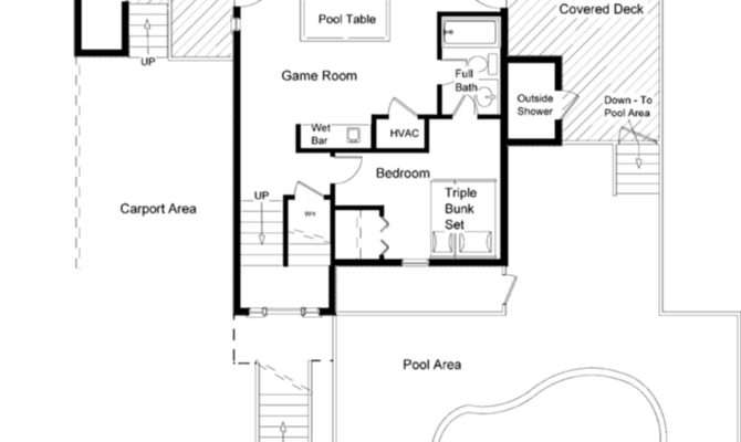House Plans Pool Eplans New American Plan Two