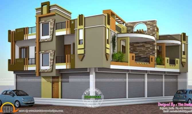 House Plans Shops Ground Floor Kerala Home