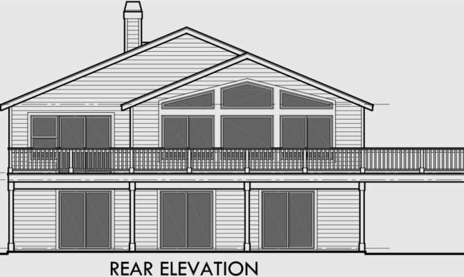 House Plans Side Sloping Lot Design