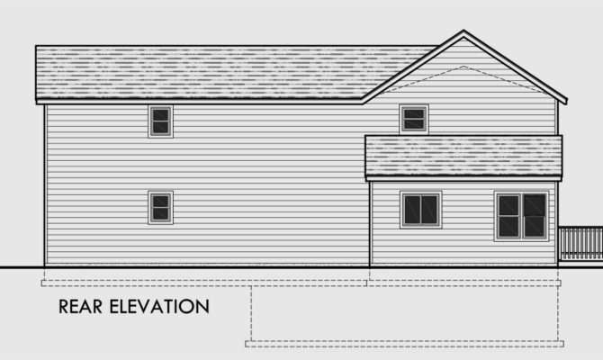 House Plans Side Sloping Lots Home Design Style