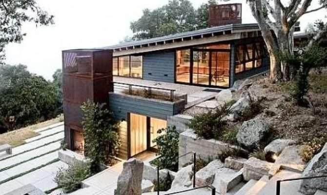 House Plans Sloped Land Decora Pinterest