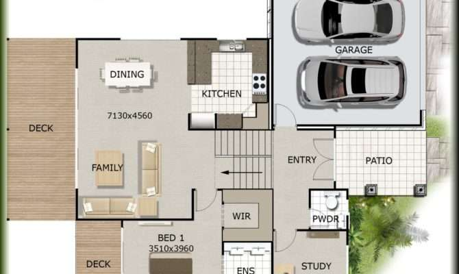 House Plans Sloping Lot Floor