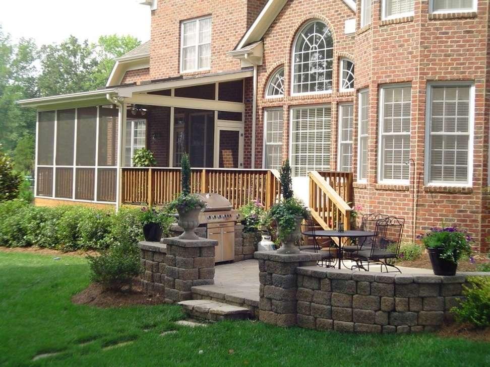 House Simple Brick Plans Front Porch Designs