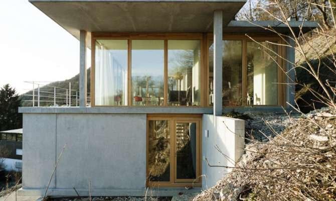 House Slope Gian Salis Architect Archdaily