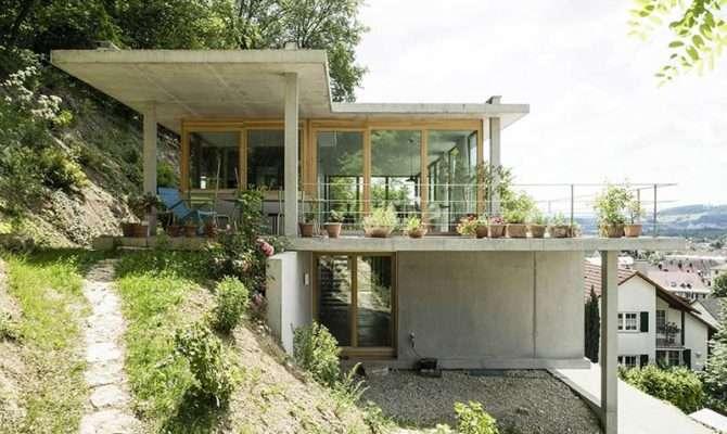 House Slope Gian Salis Architects Architecture Lab