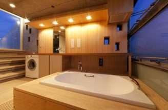 House Sports Space Saving Measures Like Placing Washing Plan