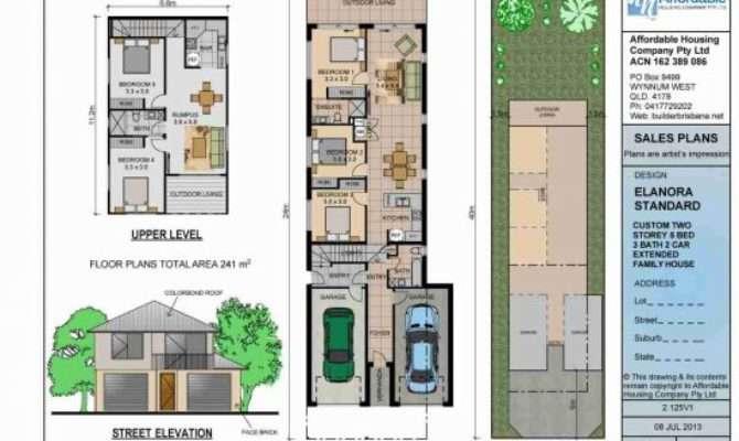 House Story Plans Narrow Lot