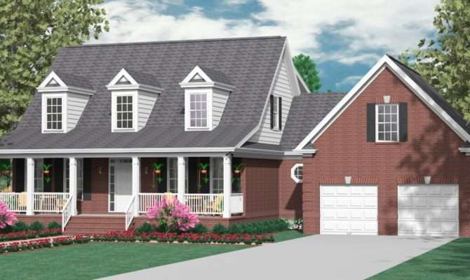 Houseplans Biz One Half Story House Plans