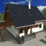 Houses Attic Balconies Wood Bricks Blend
