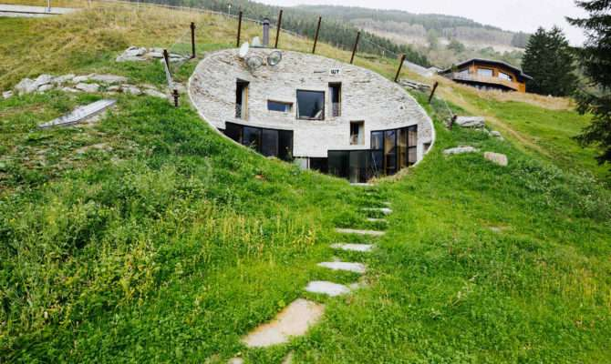 Houses Built Into Hills Convince Move