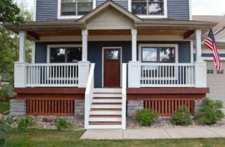 Houses Front Porch Railing Designs