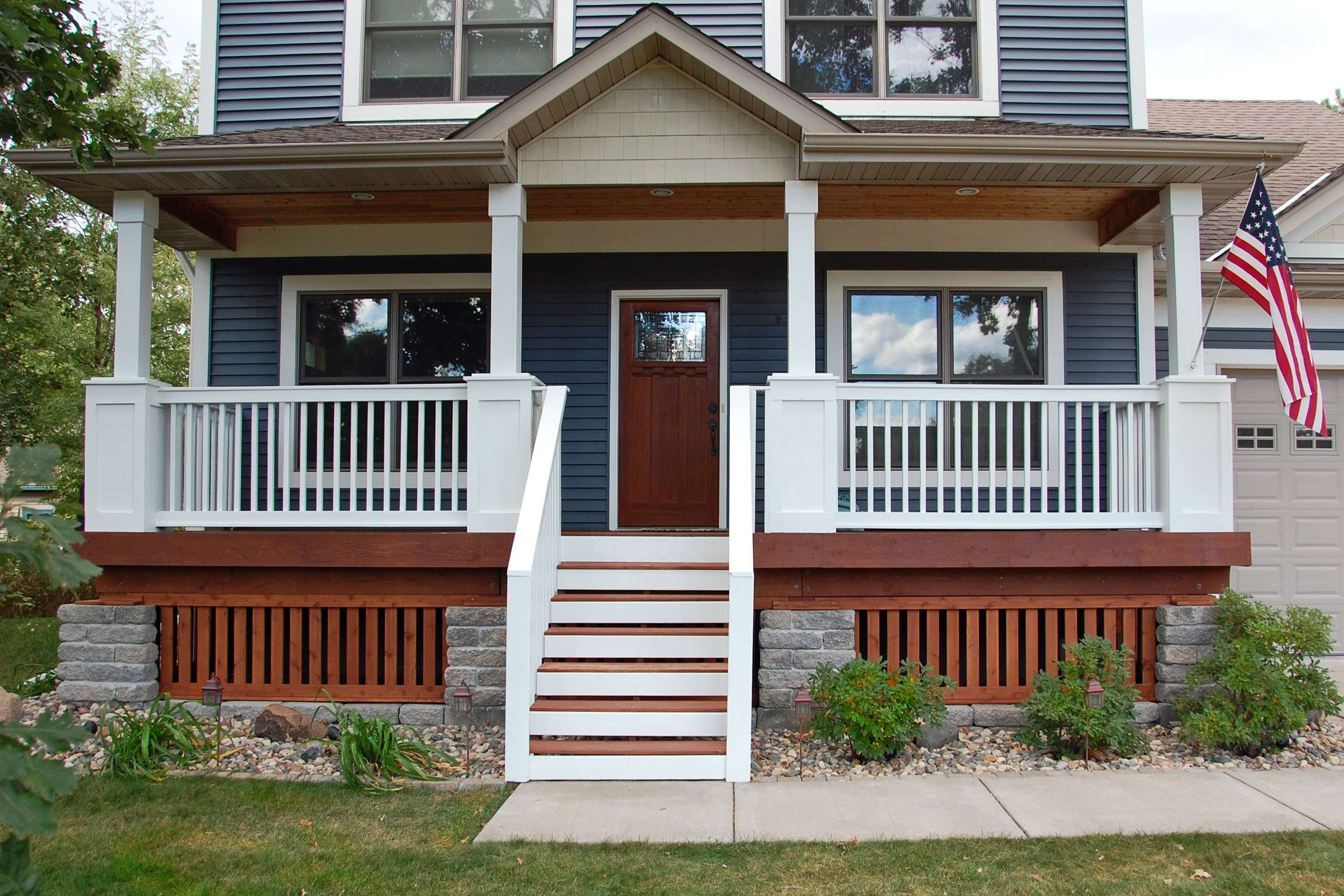 Houses Front Porch Railing Designs