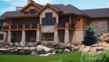 Houses Rear Classic Home Walk Out Basement House Plans