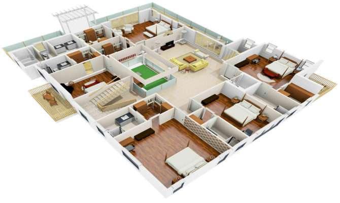 Houzone Customized House Plans Floor Interior
