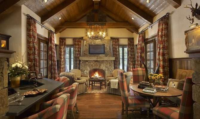 Hunting Lodge Decor Ideas Cabin All Bills Included