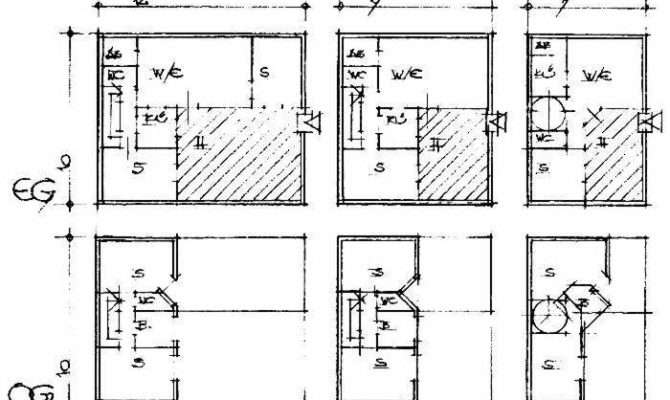 Hutong Town Residential Building Floor Plan